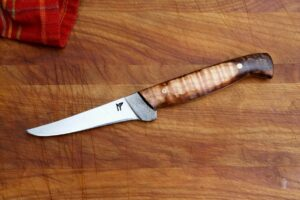 """4.5"""" boning - dyed/stabalized maple, mosaic pins"""