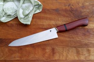 "8.5"" Chef - purple heart, buffalo horn, brass"